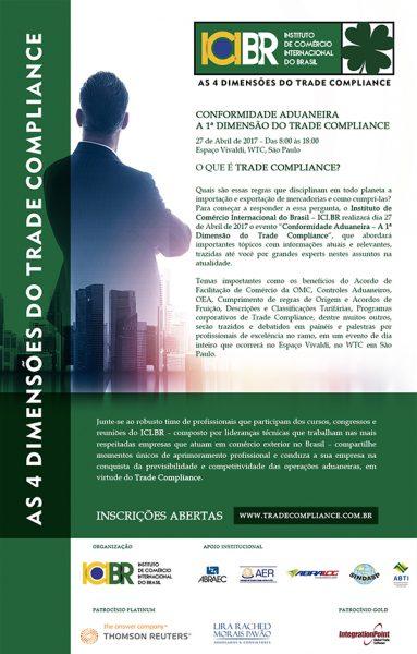 ABRAEC apoia o evento Conformidade Aduaneira - As 4 Dimensões do Trade Compliance